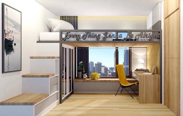 Giường tầng đẹp bằng gỗ công nghiệp