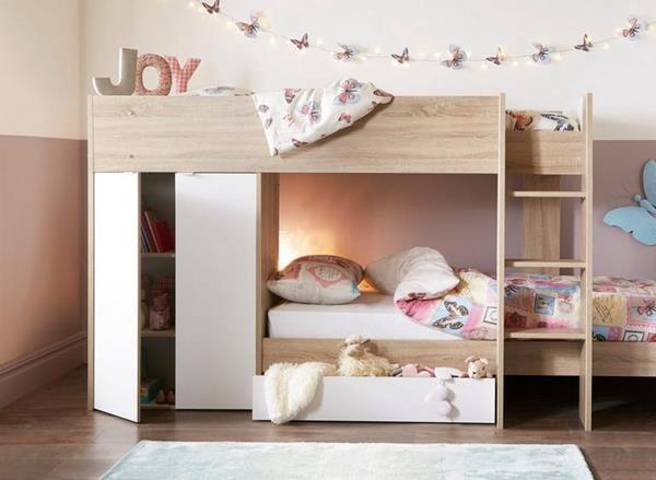 Giường tầng gỗ công nghiệp đẹp rẻ