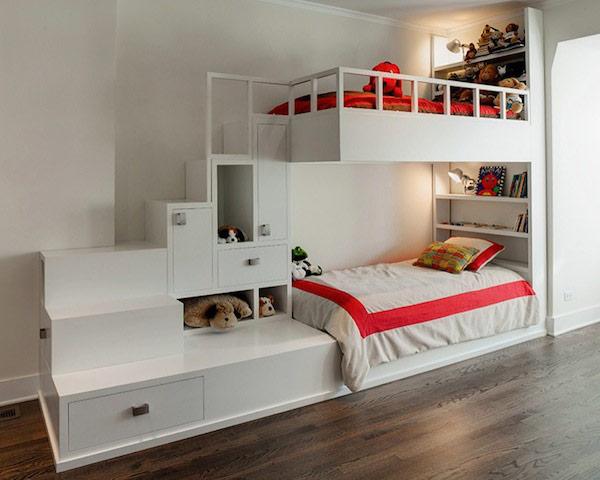 Giường tầng đẹp thiết kế nhiều tiện ích sử dụng