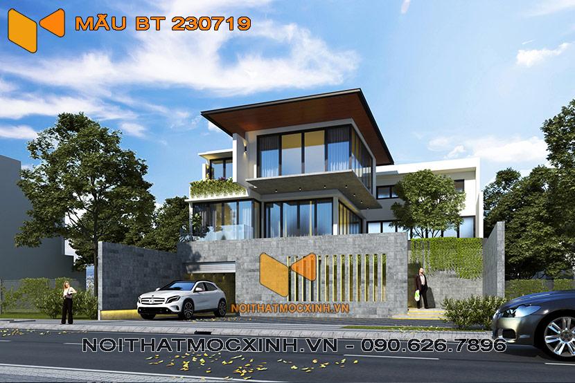 thiết kế thi công biệt thự 3 tầng hiện đại có bể bơi bt 230719 11