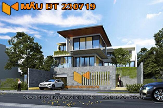 thiết kế thi công biệt thự 3 tầng hiện đại có bể bơi bt 230719 18