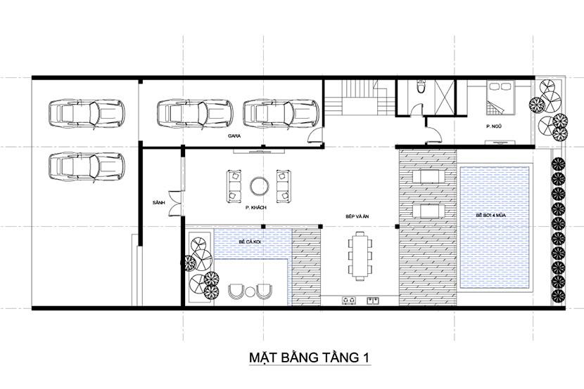 thiết kế thi công biệt thự 3 tầng hiện đại có bể bơi bt 230719 19