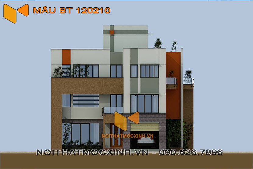 thiết kế thi công biệt thự hiện đại 3 tầng bt 120210 1