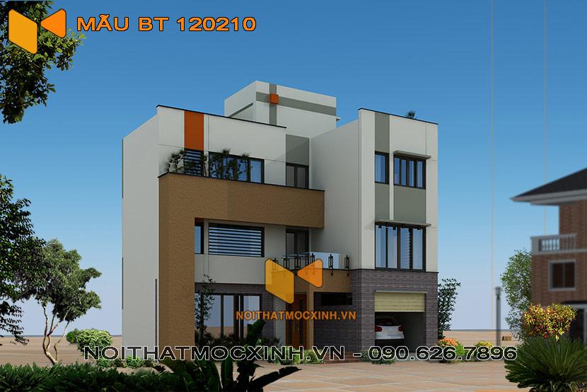 thiết kế thi công biệt thự hiện đại 3 tầng bt 120210 2