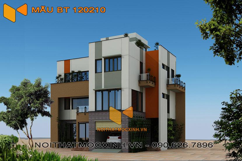 thiết kế thi công biệt thự hiện đại 3 tầng bt 120210