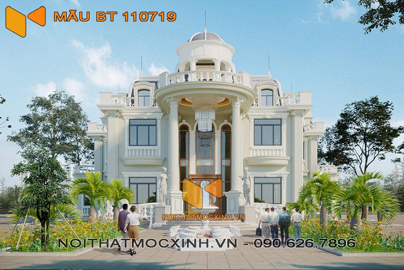 thiết kế thi công biệt thự tân cổ điển BT 110719 1