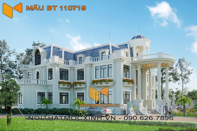 thiết kế thi công biệt thự tân cổ điển BT 110719