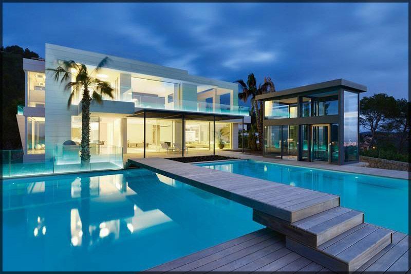 thiết kế thi công nội thất biệt thự hiện đại có bể bơi 01