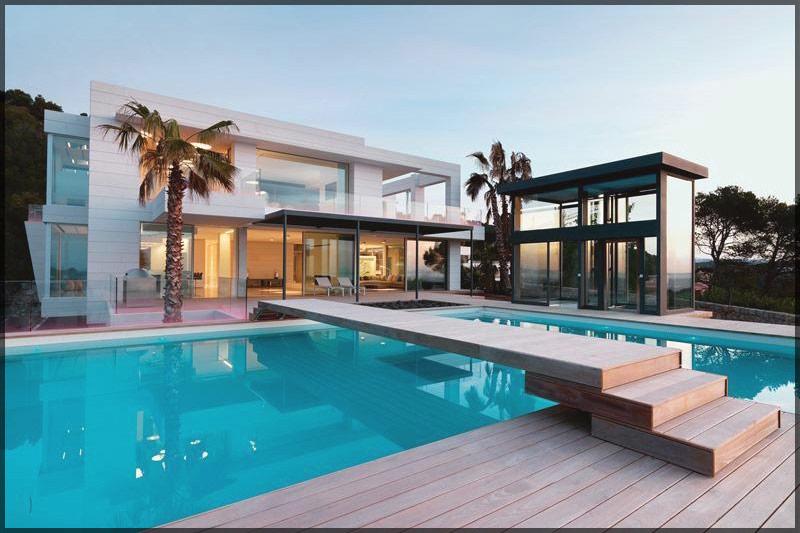 thiết kế thi công nội thất biệt thự hiện đại có bể bơi 02