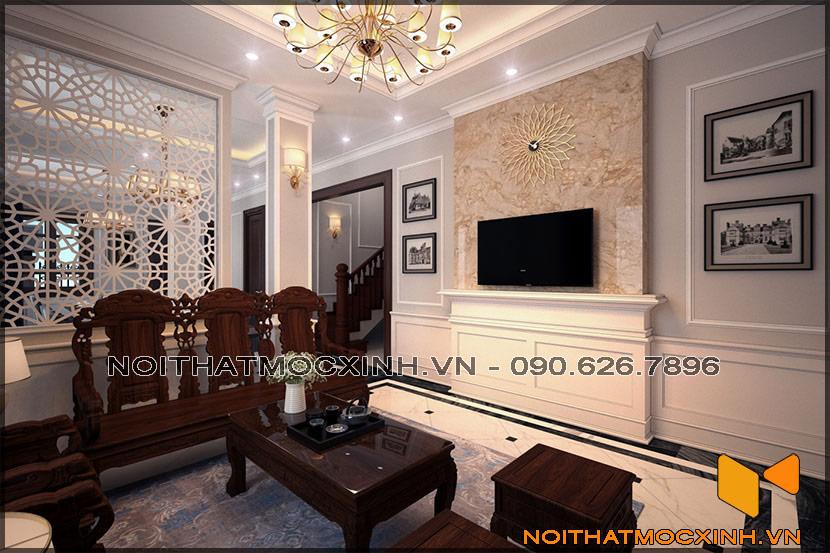 thiết kế thi công nội thất biệt thự tân cổ điển 3 tầng 03