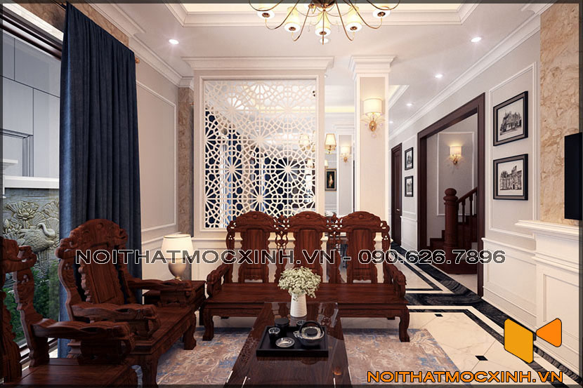 thiết kế thi công nội thất biệt thự tân cổ điển 3 tầng 04