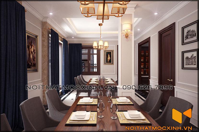 thiết kế thi công nội thất biệt thự tân cổ điển 3 tầng 05