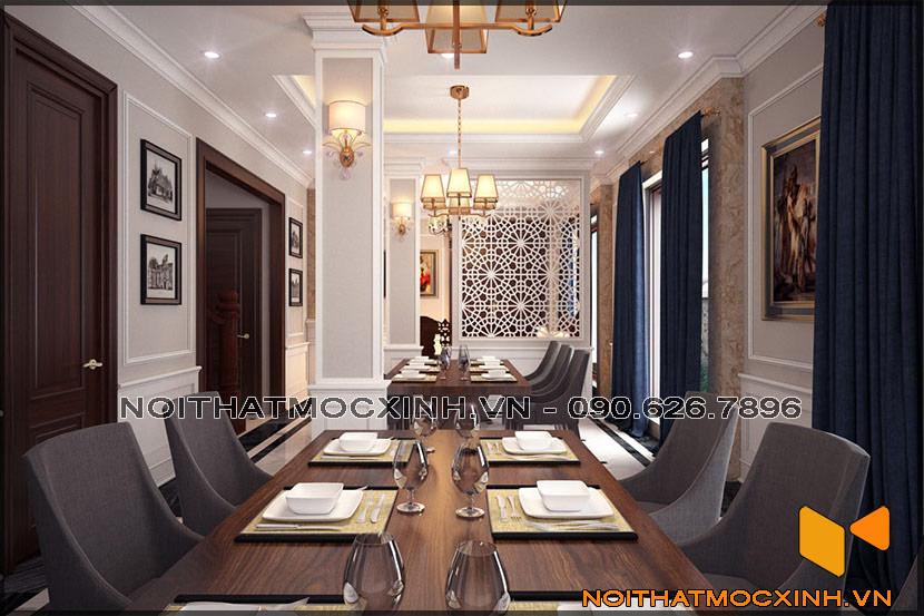 thiết kế thi công nội thất biệt thự tân cổ điển 3 tầng 07