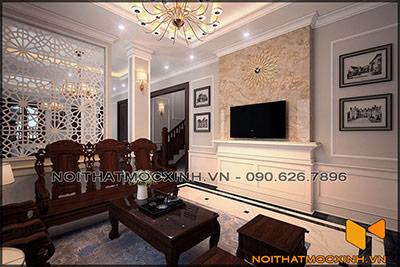 thiết kế thi công nội thất biệt thự tân cổ điển 3 tầng 15