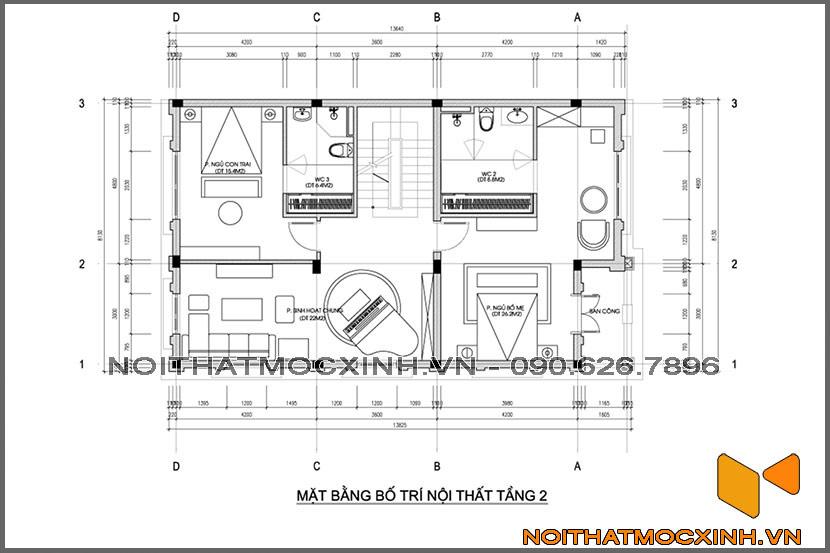 thiết kế thi công nội thất biệt thự tân cổ điển 3 tầng 17