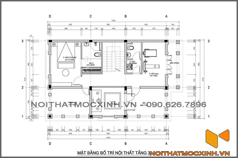 thiết kế thi công nội thất biệt thự tân cổ điển 3 tầng 18