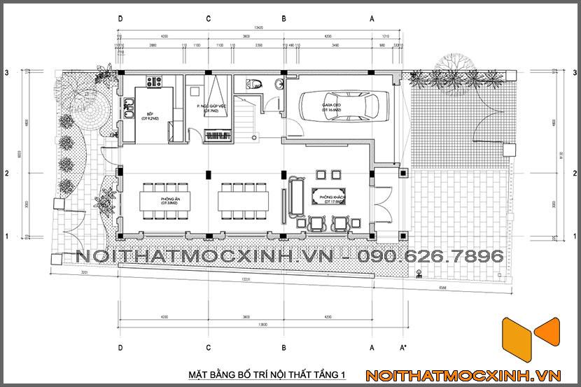 thiết kế thi công nội thất biệt thự tân cổ điển 3 tầng 19