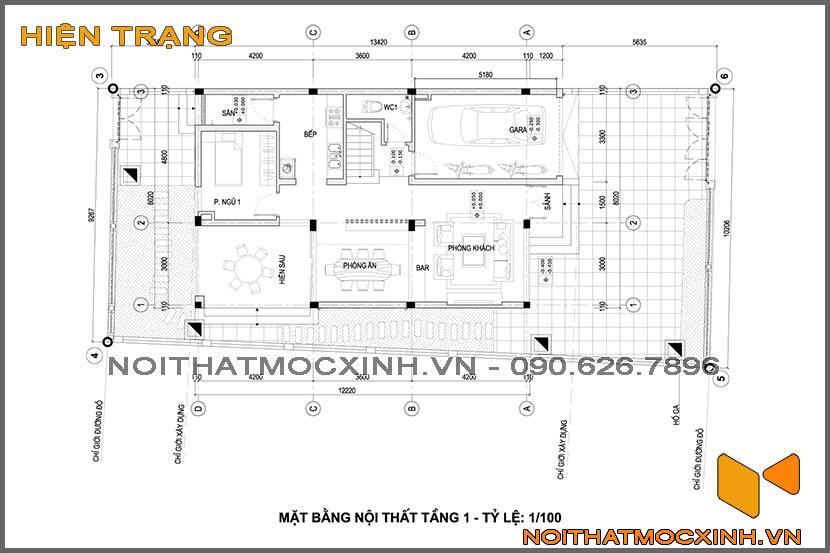 thiết kế thi công nội thất biệt thự tân cổ điển 3 tầng 20