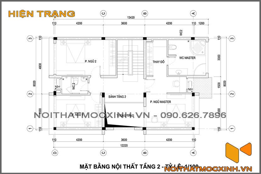 thiết kế thi công nội thất biệt thự tân cổ điển 3 tầng 22