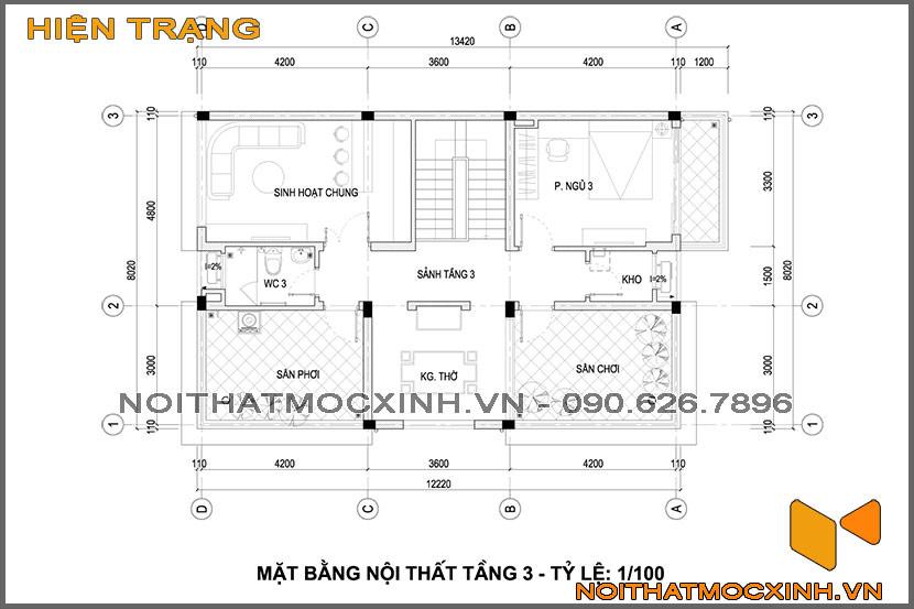 thiết kế thi công nội thất biệt thự tân cổ điển 3 tầng 23