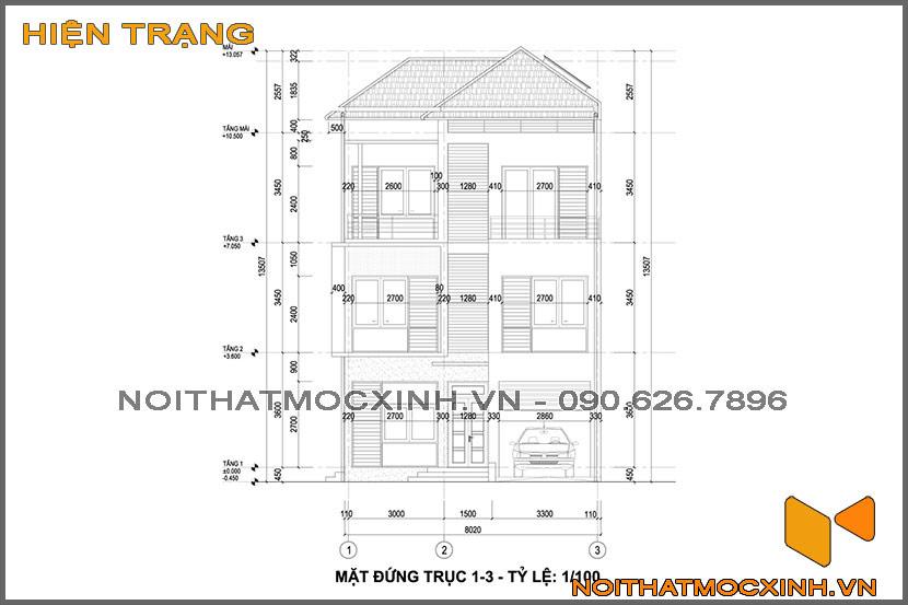 thiết kế thi công nội thất biệt thự tân cổ điển 3 tầng 24