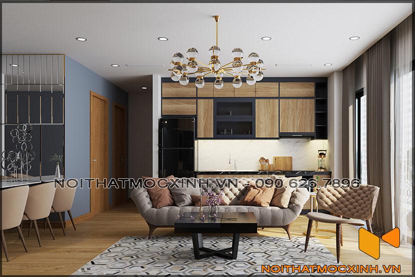 Thiết kế thi công nội thất căn hộ chung cư 90 nguyễn tuân 09