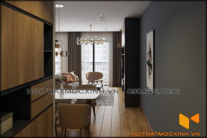Thiết kế thi công nội thất căn hộ chung cư 90 nguyễn tuân 11