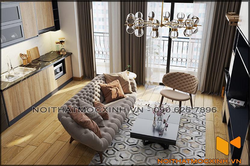 Thiết kế thi công nội thất căn hộ chung cư 90 nguyễn tuân 12