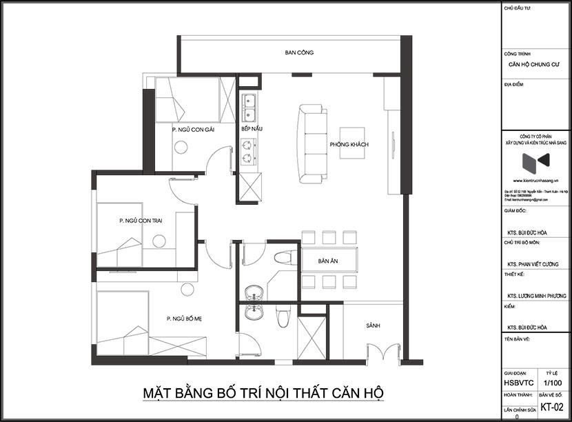 Thiết kế thi công nội thất căn hộ chung cư 90 nguyễn tuân