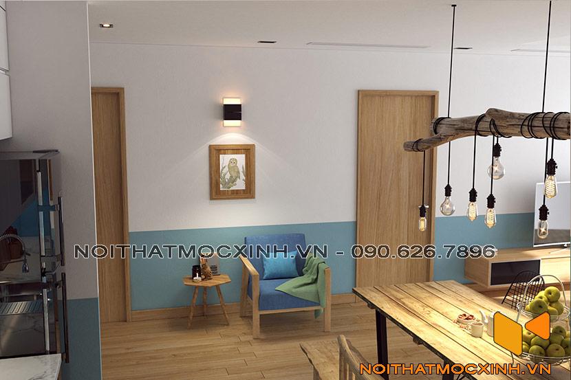 thiết kế thi công nội thất chung cư gold tower 275 nguyễn trãi 1