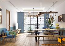 thiết kế thi công nội thất chung cư gold tower 275 nguyễn trãi 14