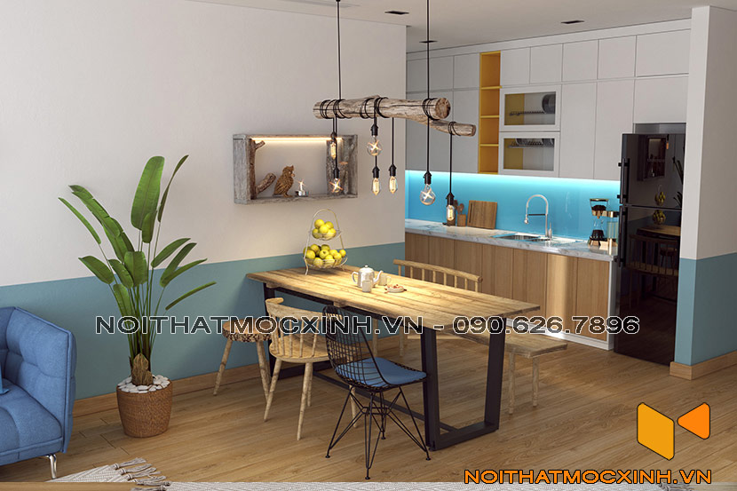 thiết kế thi công nội thất chung cư gold tower 275 nguyễn trãi 6