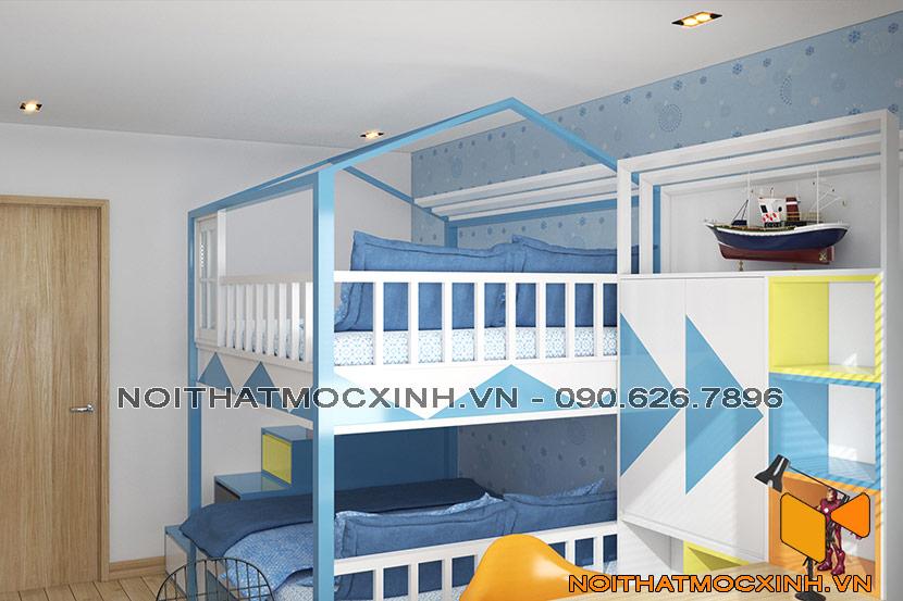 thiết kế thi công nội thất chung cư gold tower 275 nguyễn trãi 7