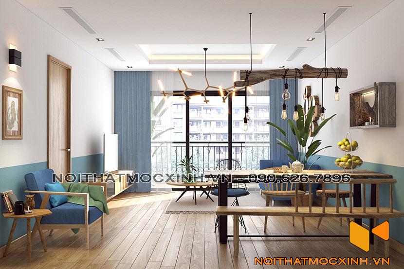 thiết kế thi công nội thất chung cư gold tower 275 nguyễn trãi