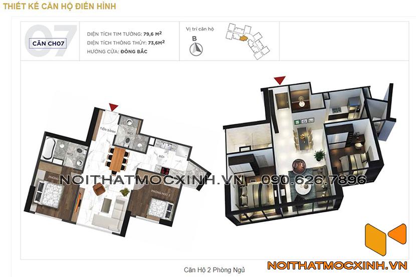 thiết kế thi công nội thất chung cư sunshine city ciputra tây hồ 13