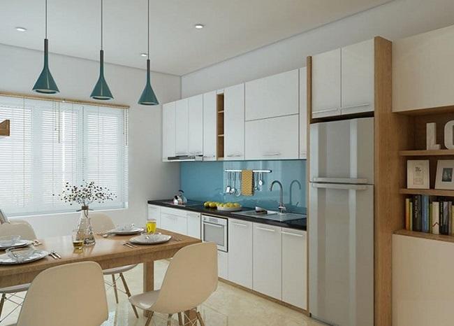Thiết kế nội thất 3D tủ bếp nhà chung cư