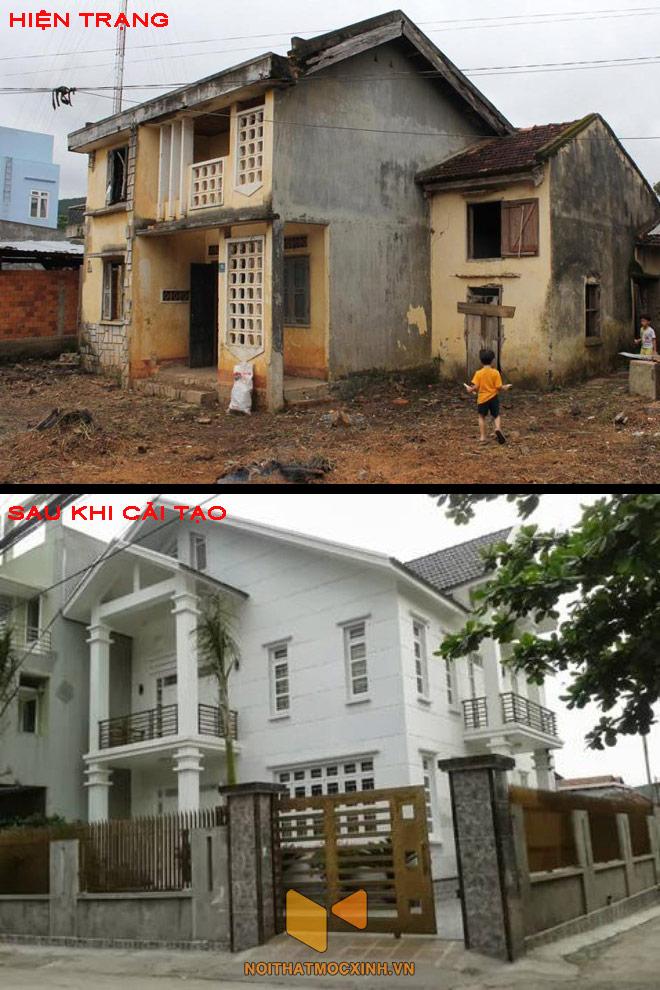cải tạo nhà cũ thành biệt thự 1