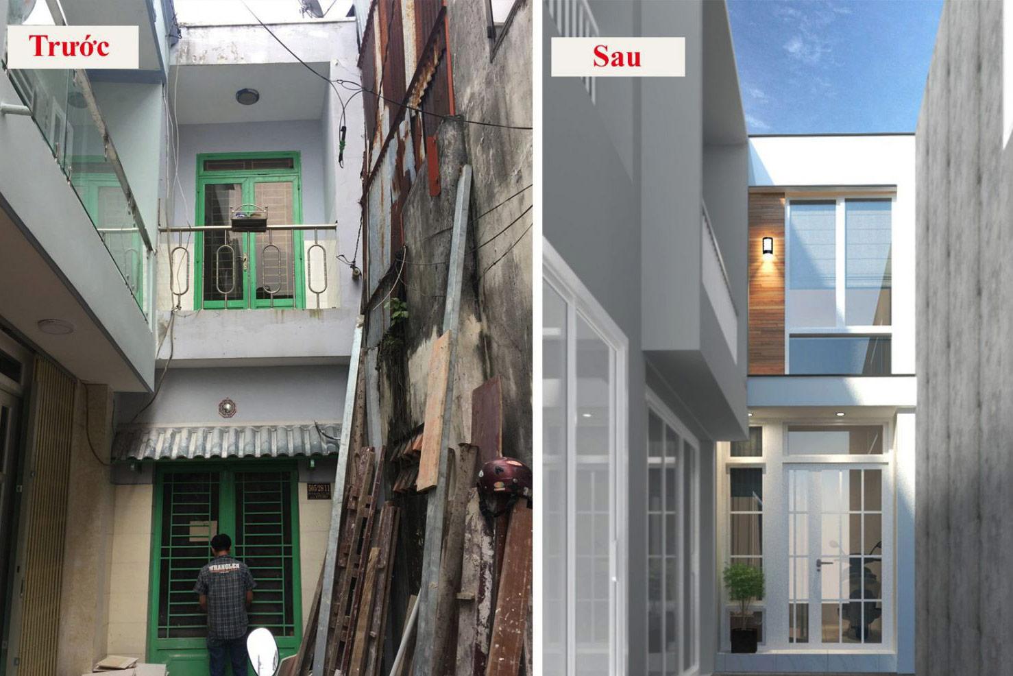 cải tạo nhà cũ thành biệt thự 2
