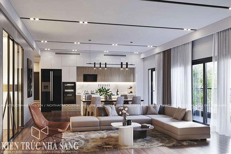 cải tạo không gian căn hộ chung cư thoáng mát