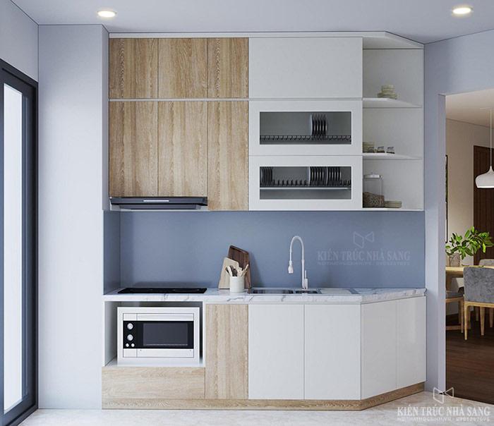 nội thất bếp căn hộ chung cư the emerald