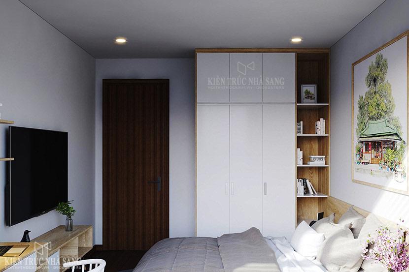 nội thất phòng ngủ căn hộ chung cư the emerald 1