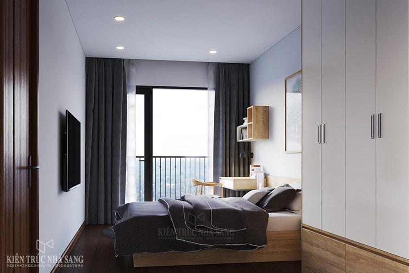 nội thất phòng ngủ căn hộ chung cư the emerald