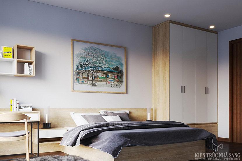 nội thất phòng ngủ master căn hộ chung cư the emerald
