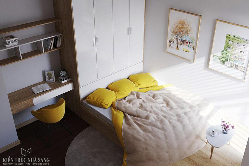 nội thất phòng ngủ méo căn hộ chung cư the emerald 1