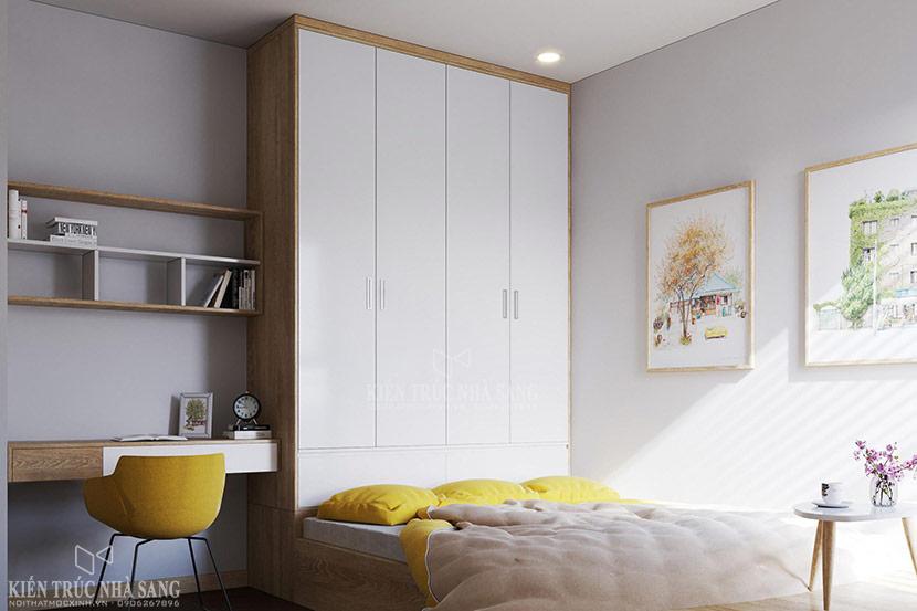 nội thất phòng ngủ méo căn hộ chung cư the emerald 2