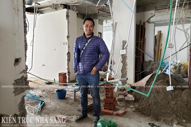 phá dỡ tường ngăn phòng căn hộ chung cư cải tạo lại theo thiết kế