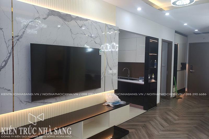 thực tế thi công nội thất luxury tại beasky nguyễn xiển