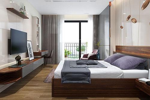 mẫu giường gỗ công nghiệp đẹp 2