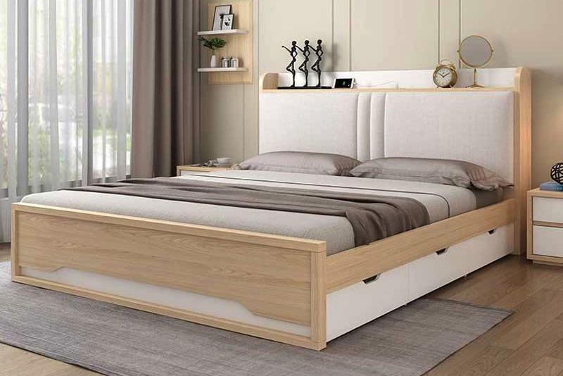 mẫu giường gỗ công nghiệp đẹp 8