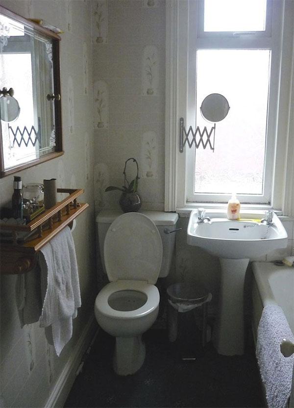 hiện trạng phòng tắm cũ